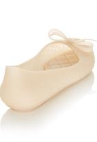 Candy's - Jelly Pumps with Bow Neutral