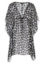 G Couture - Spot Kaftan Black and White