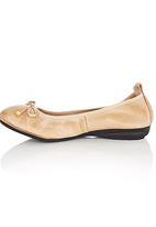 Sam Star - Leather Pumps with Bow Neutral