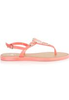 That's it - Stone Detail Sandals Coral