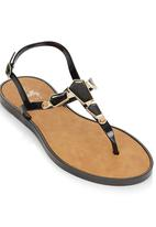 That's it - Stone Detail Sandals Black