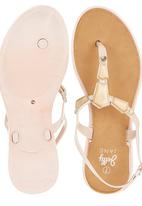 That's it - Stone Detail Sandals Neutral