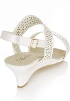 Sollé - Laser Cut Out Baby Wedges White