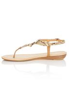 Sollé - Snake T-bar Sandals Camel/Tan
