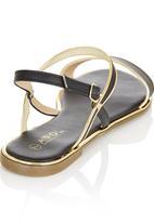 Sollé - Basic Gold Detail Sandals Black