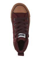 SOVIET - Vulcanised High-cut Sneakers Dark Purple  Dark Purple