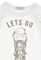 Sticky Fudge - T-shirt with Print Detail White