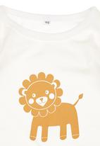 Petit Pois - Lion-print Long-sleeve T-shirt Multi-colour