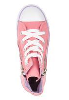 SOVIET - Pink vulcanized Hi Cut with zip Mid Pink