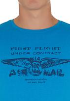 Blend - Graphic T-shirt Mid Blue Mid Blue