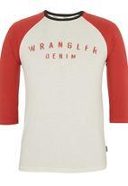 Wrangler - Raglan T-shirt White