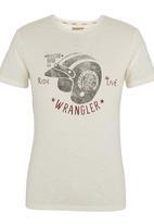 Wrangler - Ride to Live T-shirt White