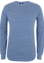 STYLE REPUBLIC - Curved Long Sleeve Tee Mid Blue