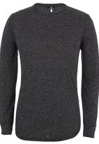 STYLE REPUBLIC - Curved Long Sleeve Tee Black