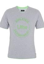 Lithe - Single Jersey Colourtip Tee Grey