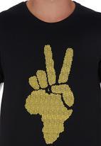 466/64 - Peace Pebbles T-shirt Black