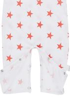 Petit Pois - Coral Stars on Cream long bodyvest Coral