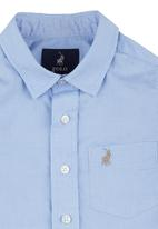 POLO - Casey Contrasted Checked Shirt Mid Blue Mid Blue