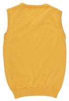 POLO - Denis Sleeveless V-neck Vest Yellow