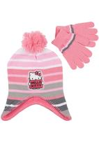 Character Fashion - Hello Kitty Trapper Beanie and Glove Set Mid Pink Mid Pink