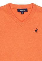 POLO - Justin V-neck Pullover Orange