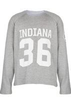 Rebel Republic - Light Weight Baseball Sweater Grey Melange