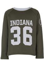Rebel Republic - Baseball Sweater Green