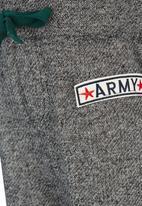 See-Saw - Printed Fleece Pants Dark Grey
