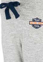 See-Saw - Printed Fleece Pants Grey Melange
