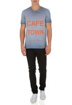 STYLE REPUBLIC - City print tee Navy