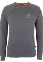 Lithe - Long-sleeve Top with Thumb Inset Dark Grey Dark Grey