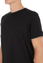 STYLE REPUBLIC - Longer length Tee Black