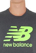 New Balance  - New Balance SS Logo Tee Black