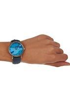 Pop Candy- Leisure Pro - Camo-print Watch Dark Blue  Dark Blue