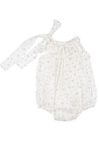 Tic Tac Toe - Onesie with spring blossom print