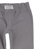 Sticky Fudge - Striped leggings Grey