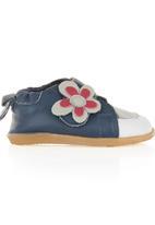 shooshoos - Sneakers with Flower Navy