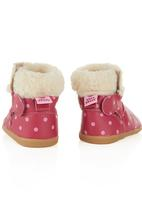 shooshoos - Polka Dot Boots Dark Pink Dark Pink