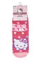 Character Fashion - Hello Kitty Slipper Socks Pale Pink Pale Pink