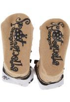 Spotanella - Lace-up socks Brown
