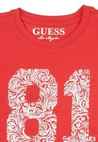 GUESS - T-shirt with Rhinestones Red