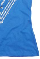 GUESS - Triangle T-shirt Mid Blue