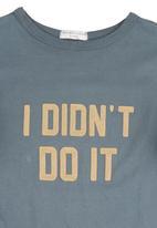 "Sticky Fudge - ""I didn't do it"" T-shirt Navy"