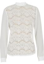 c(inch) - Lace Blouse White