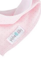 Pickalilly - Pink dot bandana bib Mid Pink