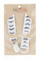 Pickalilly - Mustache Dummy Clip Grey