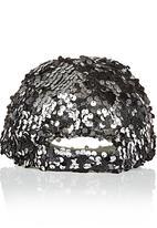POP CANDY - Girls Sequin Cap Black