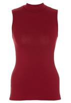 c(inch) - High Neck Top Dark Red