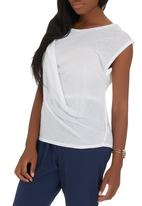 edit - Draped casual top White
