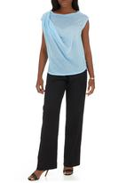 edit - Draped casual top pale Blue Pale Blue
